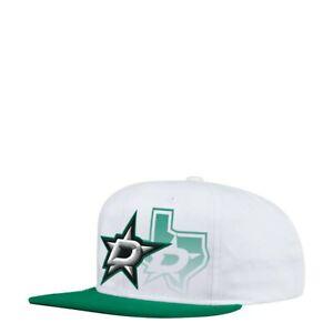 Dallas Stars NHL Men's Adidas Snapback Closure, One Size, White/Green