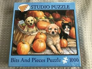 Pumpkin Pups - 1000 Piece - Studio Puzzle - Bits And Pieces -  NIB  PUPPIES!