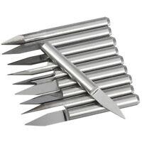 10 pcs 0.3mm 30º Wolfram Stahl CNC Gravierstichel Messer