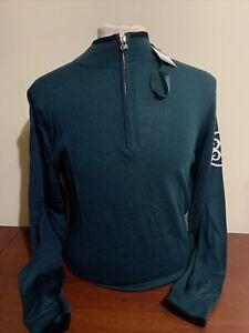 G4 G/Fore Tipped Men's Medium Pine 1/4 Zip Sweater NEW NWT Cirlcle G G4MF19S03