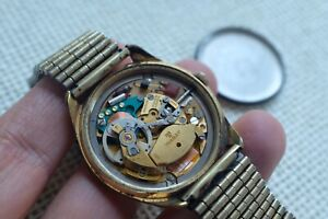 Vintage Collectable Tissot Seastar ELECTRONIC Gold-Plated Watch 36mm