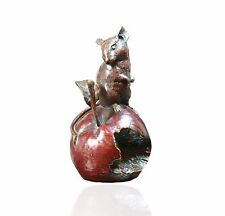 Mice Bronze Sculpture - Mouse On Apple - Limited Edition. Michael Simpson.