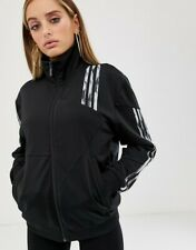 NEW $100 ADIDIAS Womens Daniëlle Cathari Firebird Track Jacket BLACK SMALL S