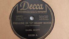 Hazel Scott  - 78rpm single 10-inch – DECCA #18128 Country Gardens