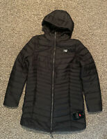 New Balance Black Puffer Jacket Women's Medium Full Zip With Hood