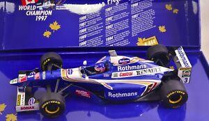 1997 Jacques Villeneuve Renault World Champion Box 1:18 FULL LIVERY