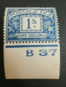 GB. Postage Due. SG D33. MNH. Lovely clean condition.