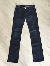 7 FOR ALL MANKIND SOFT & LIGHT 'STREIGHT LEG' LADIES JEANS W25 APPROX UK 8 L32