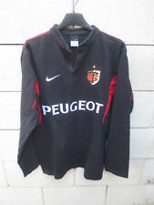 Maillot rugby STADE TOULOUSAIN 2005 NIKE shirt collector vintage noir S