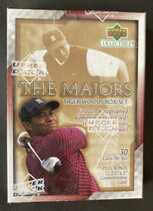 TIGER WOODS 2002 UD Sealed Box Set of 30 THE MAJORS + Autographed Card In 1:100