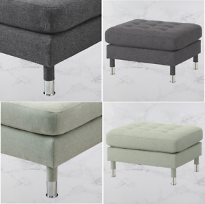 IKEA LANDSKRONA Footstool, with metal or wooden legs available in two colours.
