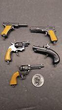 SET OF FIVE VINTAGE Victory Mini Cap gun Set Collection flint lock, auto toys