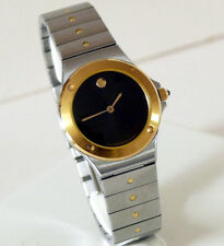 Movado Moma art museum sport edition l'imperiale lady two tone oro 14K anni '80