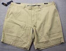 RALPH LAUREN Polo Logo Mens Beige Cotton Classic Chino Shorts NWT 52 52B BIG $85