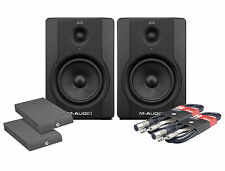 M audio BX5 D2 studio monitor 70W paire, isolation pads & cables paquet bundle