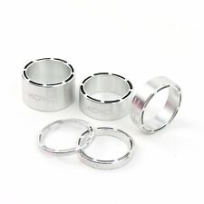 KCNC AL6061 Alloy Bike Bicycle Hollow Headset Stem Spacer 3+5+10+14mm - Silver