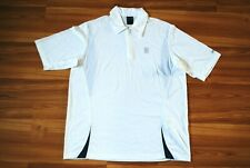 SIZE MEDIUM NIKE TENNIS POLO SHIRT JERSEY DRY FIT AUTHENTIC WHITE COLOR RARE