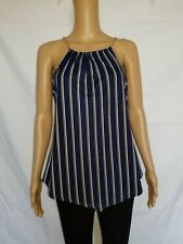 Top Fashion of New York, Sleeveless blouse Size -M- Top Blue yellow white