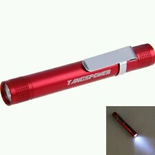 Rouge mini pen-type Portable LED 3W lampe de torche lampe de poche batterie