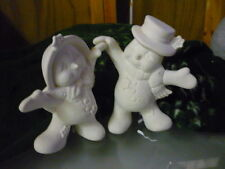 Dancing Snow Couple  Ready to Paint Ceramic