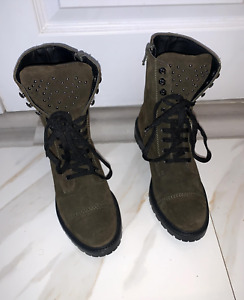 Suede Combat Boots- Barneys New York- Size 5