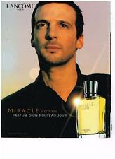 PUBLICITE ADVERTISING  2002   LANCOME  boutique parfums MIRACLE HOMME