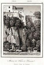 SORRENTO. Golfo di Napoli. Regno delle Due Sicilie. Artaud. Stampa Antica. 1835