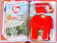 McDonald's Ty TEENIE Beanie Baby 2000 OSITO International BEAR Mexico Teddy CARD