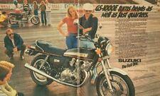 1978 Suzuki GS1000E Motorcycle 16 x 20 Matted Vintage Ad Art