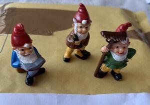 Vintage Kinder Gnomes. 1988. Mega Rare. Fererro. 80s Toy. Cake Toppers