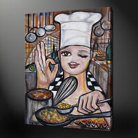 CHEF KITCHEN DESIGN MODERN CANVAS WALL ART PRINT PICTURE READY TO HANG