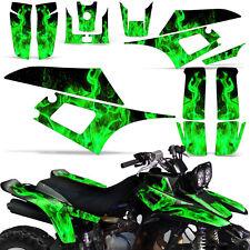 Decal Graphic Kit Yamaha Warrior 350 ATV Quad Decal YFM350X Wrap 87-04 ICE GREEN