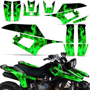 Decal Graphic Kit Yamaha Warrior 350 ATV Quad Decal YFM350X Wrap 87-04 ICE GREEN