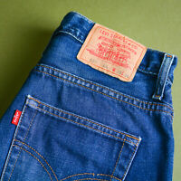 Levi 507 Jeans Blue Straight Leg Zip Fly Vintage Men's (LabelW30L34) W 29 L 34