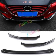For Mazda 3 Axela 2017 Sedan Carbon Fiber Front Lower Bumper Protector Cover