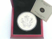 2013 Canada Maple Leaf 25th ANNIVERSARIO € 50 FIFTY DOLLARO ARGENTO 5 OZ (ca. 141.75 g) MEDAGLIA BOX COA