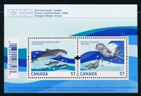 JOINT Issue with SWEDEN = MARINE LIFE = Souvenir Sheet = Canada 2010 #2387 MNH