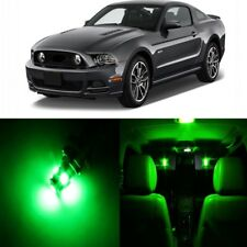 9 x Green LED Interior Light Package For 2010 - 2014 Ford Mustang + PRY TOOL