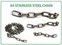 CHAIN GRADE A4 / 316 STAINLESS STEEL SIZES 2MM 3MM 4MM 5MM MARINE. CUT LENGTHS