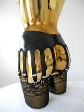 Taille S 28-30 Cm Tour De Taille noir PVC 14 Lanière Designer Burlesque