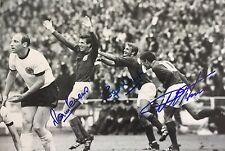 NICE A3 Angleterre Coupe du Monde 1966 Signé Photo Hurst Peters Hunt - 50TH ANNIVERSAIRE