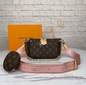 Louis Vuitton Multi Pochette Accessoires Sac Monogramme Rose Marque Authentic