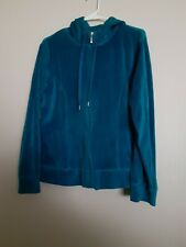 Danskin Now Women's Turquoise Long Sleeve Full Zip Activewear Hoodie Sz XL