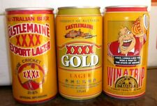Collectable beer cans: Set of 3 XXXX Castlemaine Export beer cans