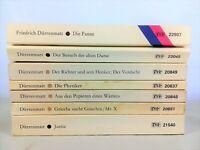 7x Dürrenmatt  im Diogenes Bücherpaket Sammlung - Kriminalromane Dramen Komödien