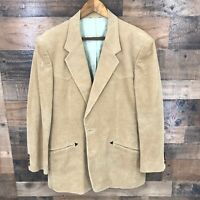 Joe Namath Men's Brown Corduroy Blazer Jacket Size 44 R Cotton Poly Blend