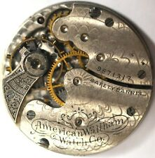 WALTHAM ART DECO POCKET WATCH MOVEMENT FOR PARTS/REPAIRS #W142