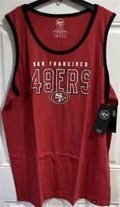 San Francisco 49ers NFL '47 Brand Red Splitter Men's 3XL Tank Top Shirt