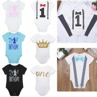 Baby Boys Infant My 1st Birthday Party Outfits One Year Cotton Bodysuit Romper