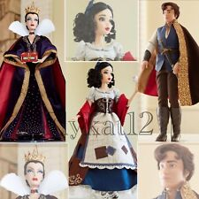 "Disney Store Limited Edition Princess Snow White, Evil Queen, Prince 17"" Dolls"
